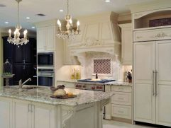 White Kitchen Black Countertops
