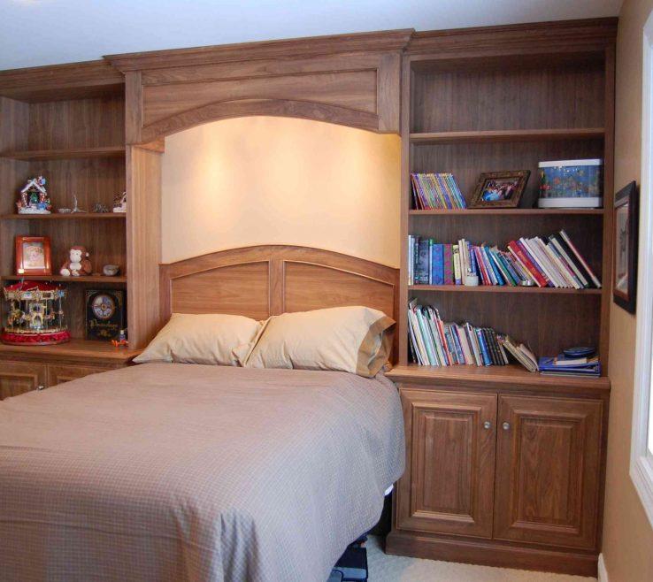 Bedroom Built Ins Of Custom Made Black Walnut