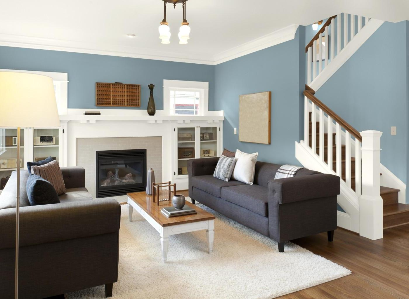 Best Color For Living Room Walls Of Modest Blue Decor Ideas And Livin Good