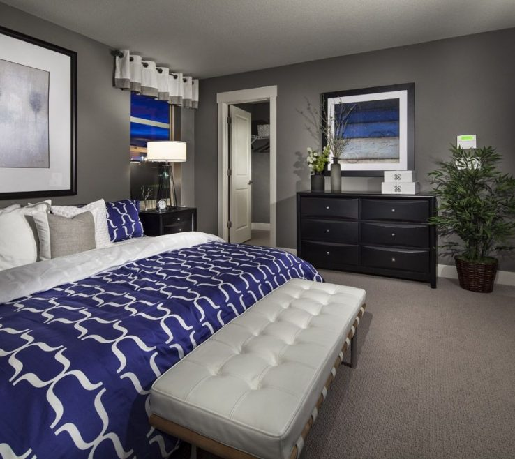 Blue Master Bedroom Of Grey White And Royal Suite Smokey Instead