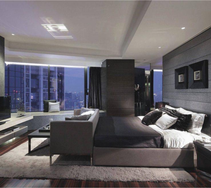 Brilliant Contemporary Master Bedroom Of Modern Unique Design Mission Mansion Style E