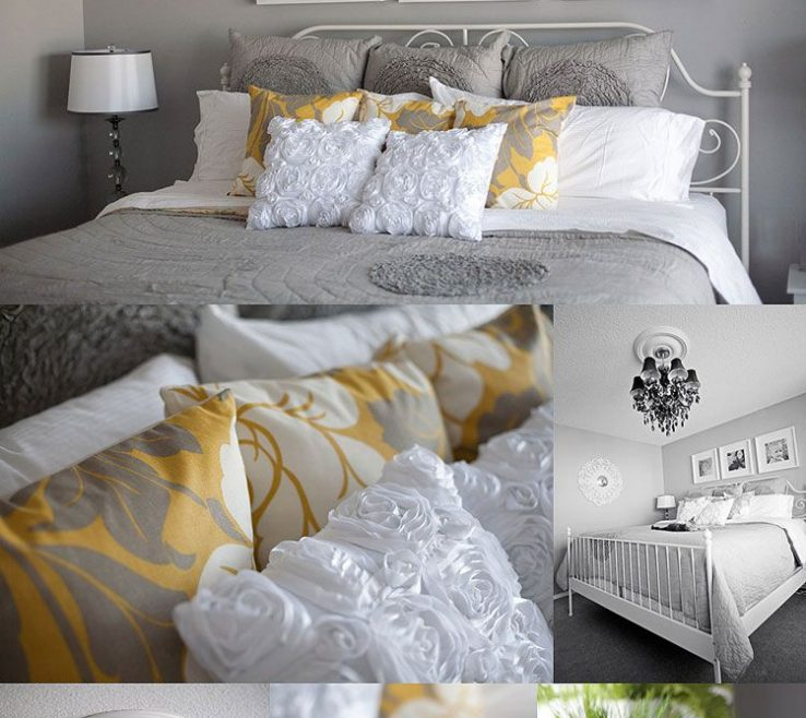 Brilliant Gray Bedroom Decor Of Guest Inspiration. Love The White, Grey And