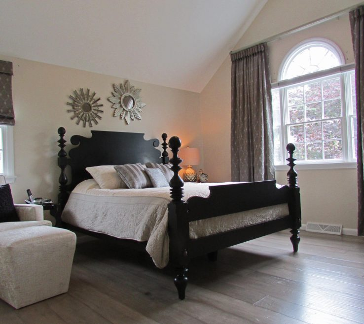 Brilliant Grey Master Bedroom Of Wash Hardwood Floors Make This