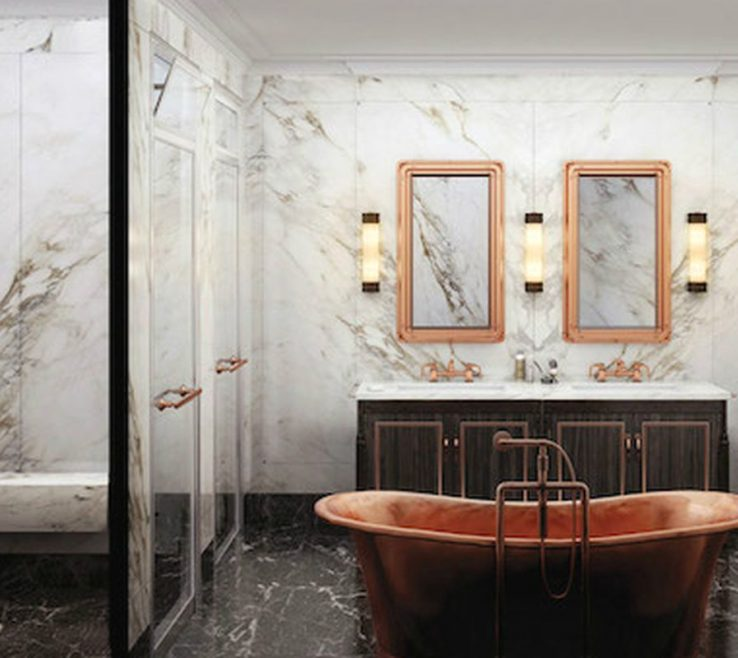 Brilliant His And Hers Bathroom Sinks Of Rendering Of A In The Fitzroy, A