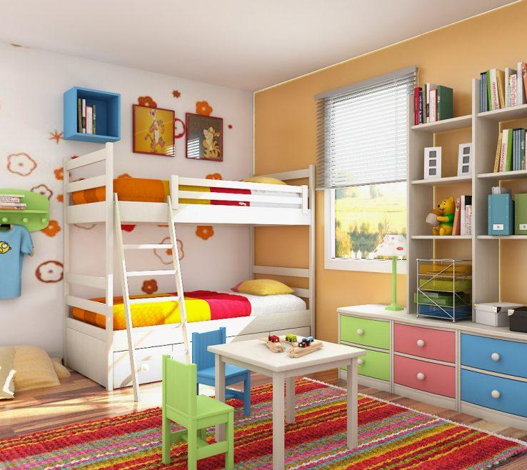 Brilliant Kids Bedroom Designs Of Bright Creative Room Design With Bunk Bed