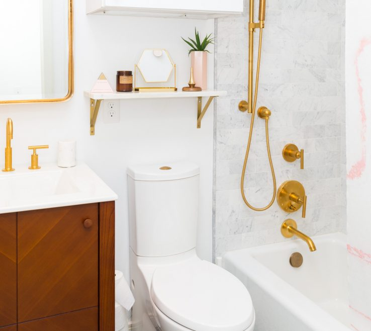 Captivating Bathroom Before And After Of Sugar & Cloth Casa: The +