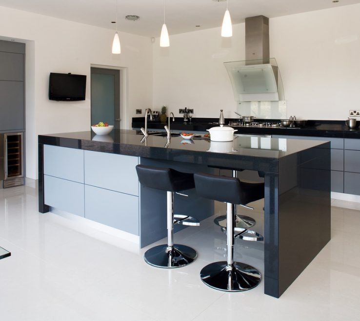 Captivating Contemporary Kitchens Of High Gloss Cross Grain Veneer Armagh Belfast