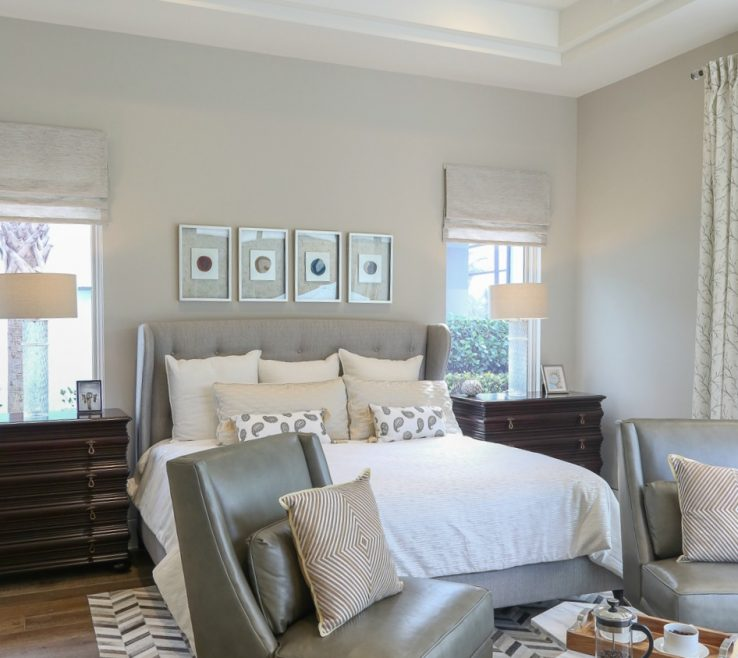 Captivating Gray Color Bedroom Of Wall Is Sherwin Williams Worldly