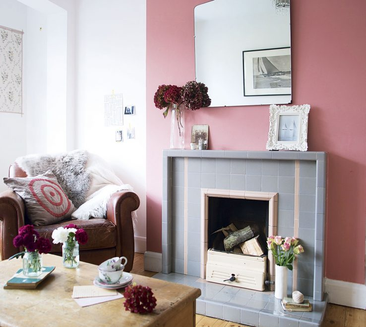 Captivating Grey Colour Schemes For Living Rooms Of Bright Room With Colourful Chimney Breast