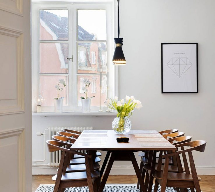 Captivating Mid Century Dining Room Of Modern With A Wood Table. #diningroominspiration #homedecor