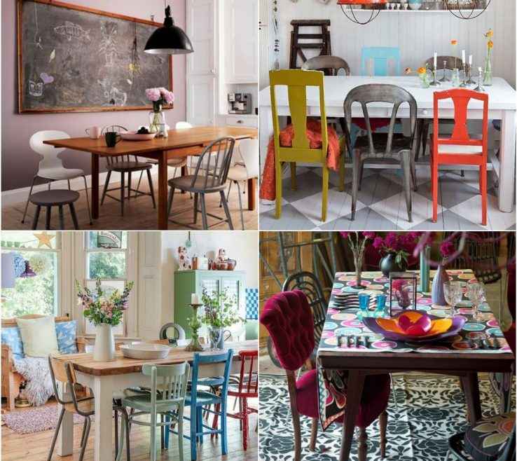 Captivating Mix And Match Dining Chairs