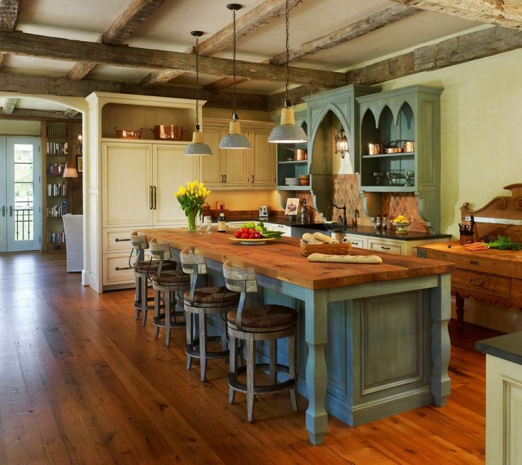 Captivating Modern Rustic Kitchen Designs Of With Antique Look Interior Design