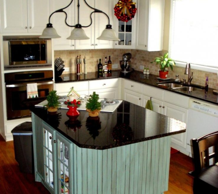 Captivating Small Kitchen Design With Island Of Little Beautiful Ideas
