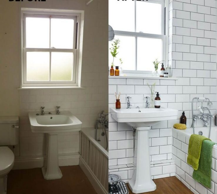 Charming Bathroom Before And After Of This Tile Is A Highlight