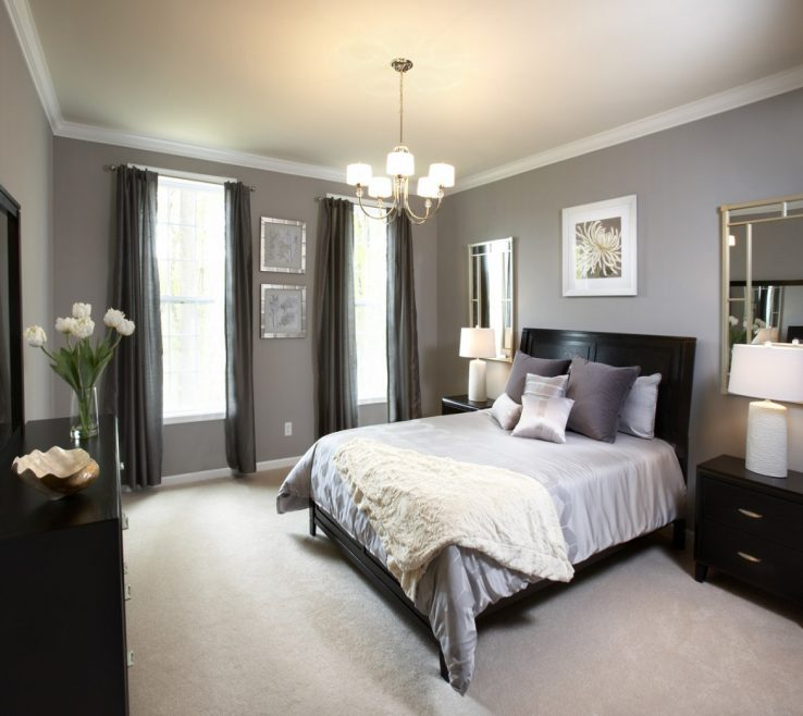 Charming Grey Master Bedroom Of Amazing Of Decorating Ideas With Bedr #1504