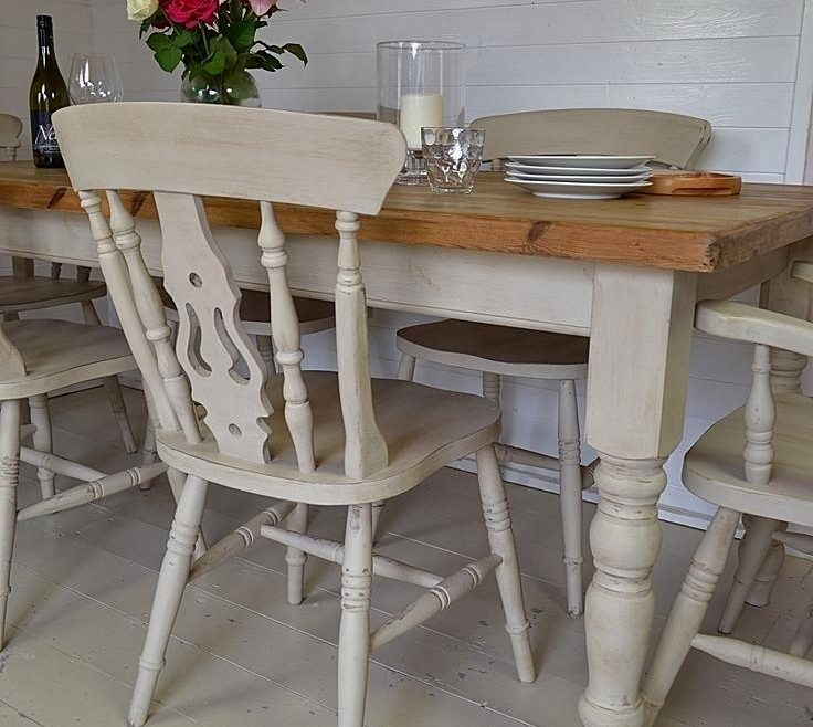 Charming Mixed Dining Chairs Of Adorable Countryside White Wooden Pedestal Table Large