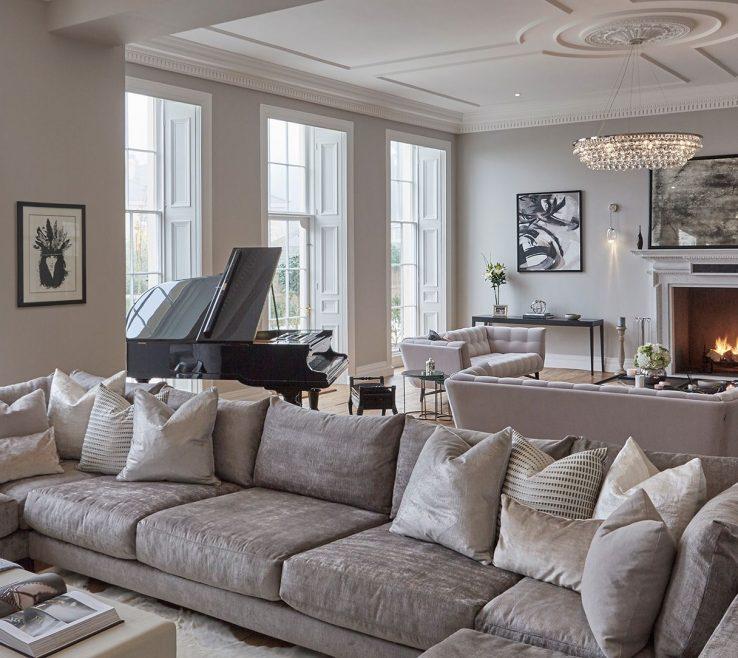 Charming Monochromatic Living Room Of | Cherie Lee Interiors