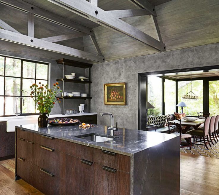 Charming Rustic Contemporary Kitchen Of Modern Ideas Home Design Norma Budden Regarding