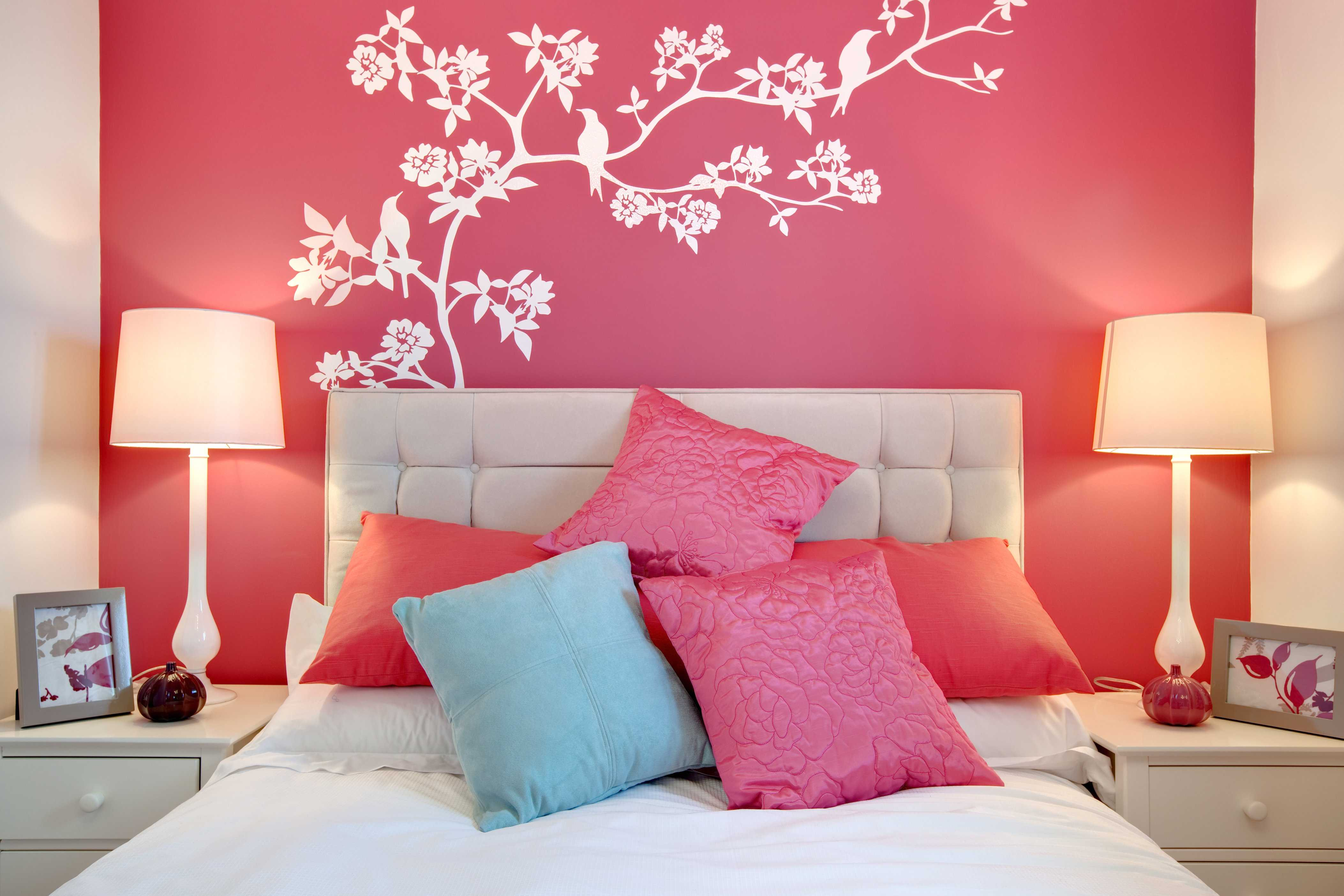 Charming Wall Painting Designs For Living Room Of Bedroom ...