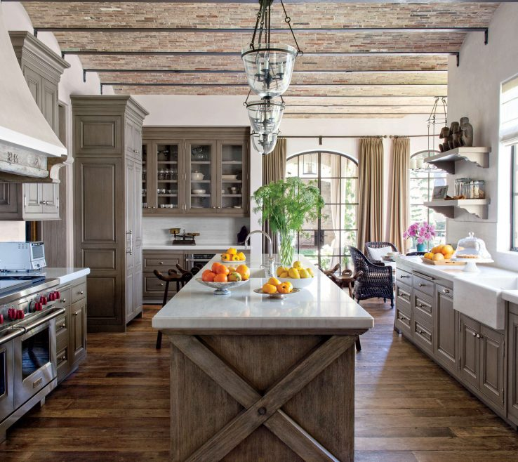 Charming White Rustic Kitchen Of 3