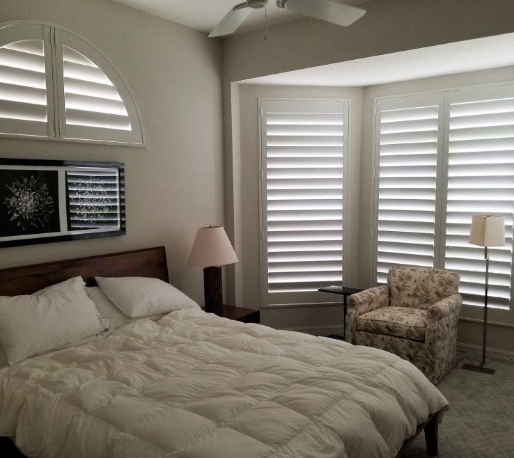 Cool Bay Window Bedroom Of Hidden Tilt Shutters For The