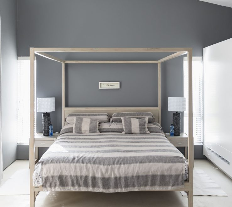 Cool Grey Master Bedroom