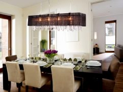Lighting Over Dining Room Table Of A Large Table. Featured: Gather, Three Light