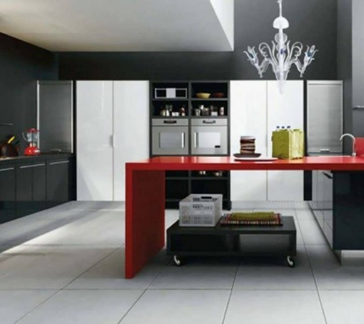 Cool Red Kitchens Of 7 Beautiful Black And Ideas