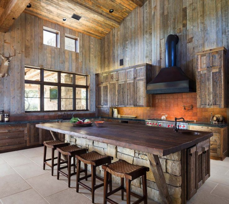 Cool Rustic Kitchen Pictures Of Modern Rustic Barn Style Retreat In Texas Hill
