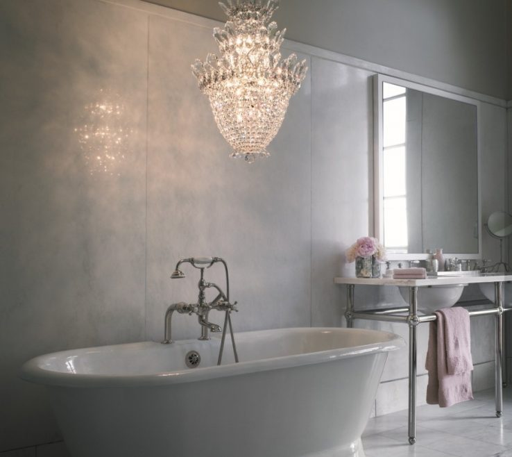 Elegant Bathroom Chandeliers Ideas Of Small For Creative Decoration In Crystal Chandelier