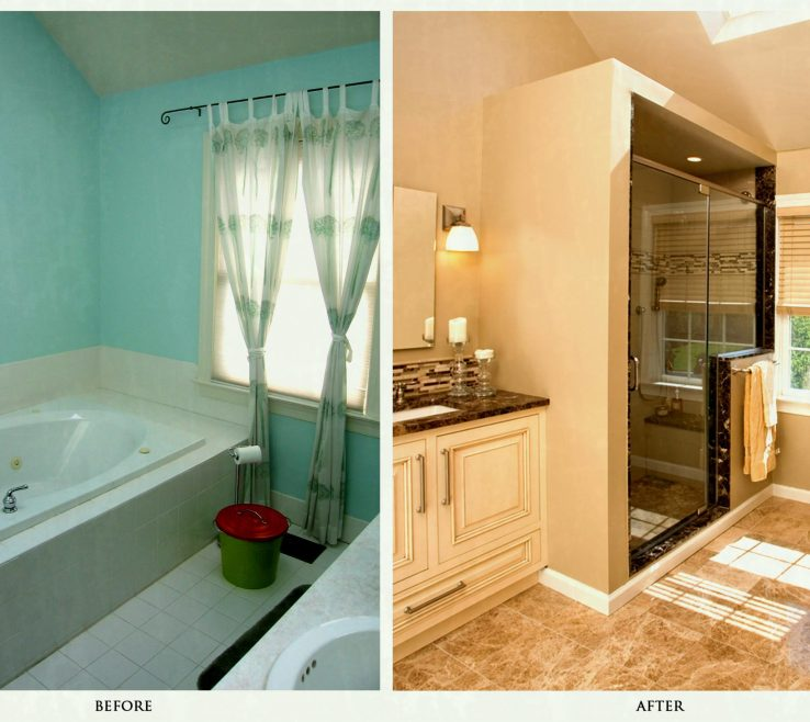 Elegant Bathroom Makeovers Before And After Of Ual 10 3294x2172