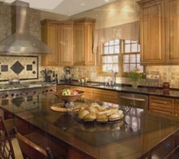 Elegant Black Granite Kitchen S Of Backsplash Ideas For And Maple S