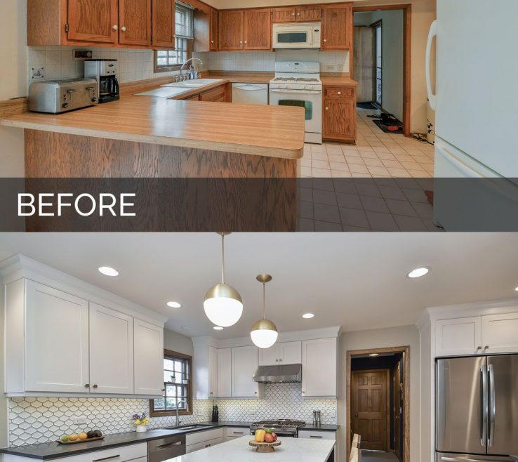 Elegant Kitchen Remodel Before And After Pictures Of Remodeling Naperville Sebring Services