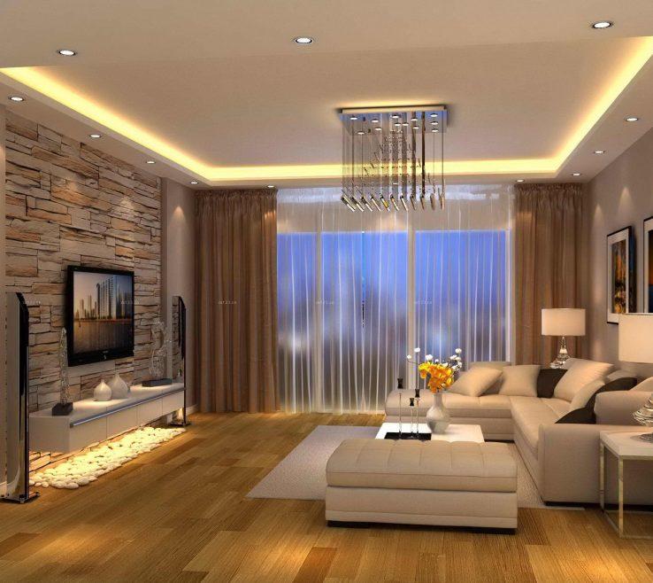 Elegant Living Room Interior Design Of Modern Brown More