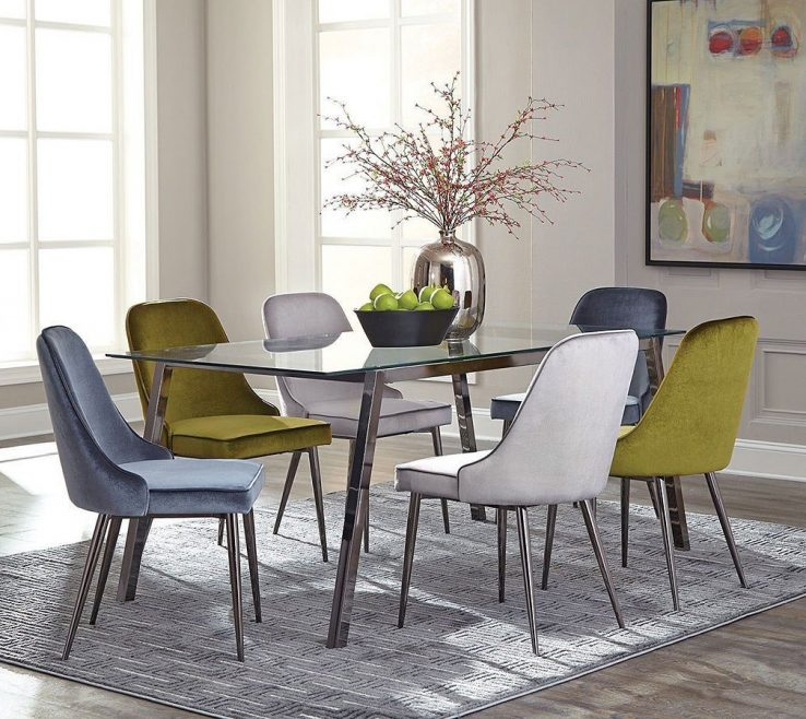 Elegant Mix And Match Dining Chairs Of Inslee Room Set