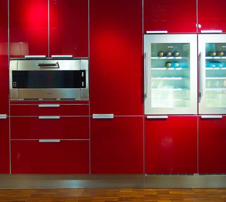Elegant Red Kitchens