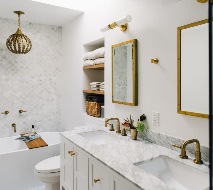 Enchanting Bathroom Before And After Of Master Bath Room +