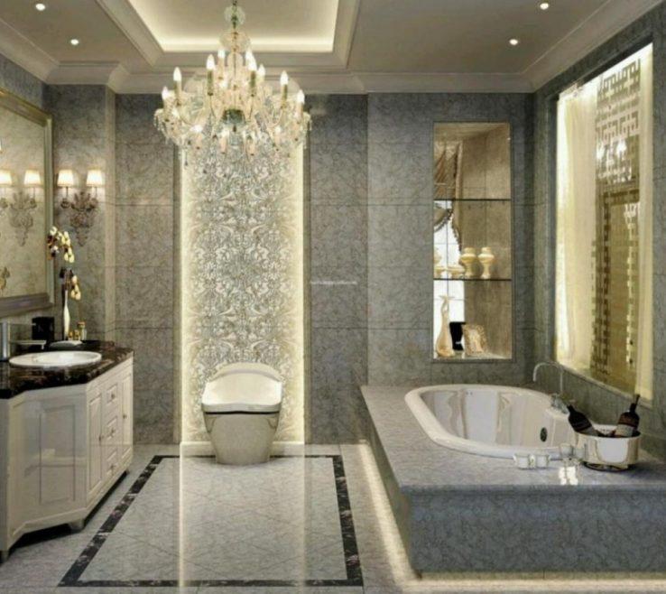 Enchanting Bathroom Chandeliers Ideas Of Lovable Crystal Vintage Tile Design Design
