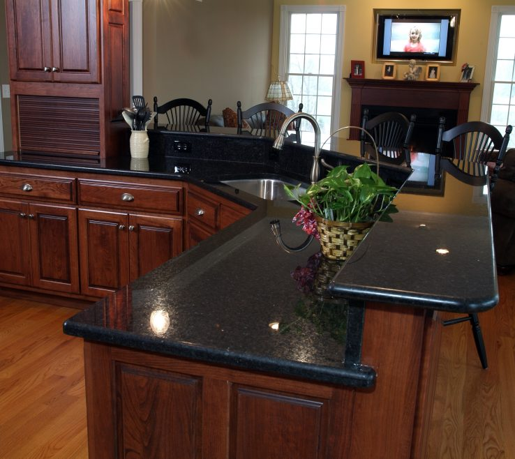 Enchanting Black Granite Kitchen S Of Angola Slab Granix Angola Finished Installed Job