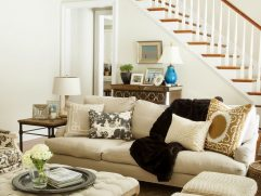 Living Room With Ottoman