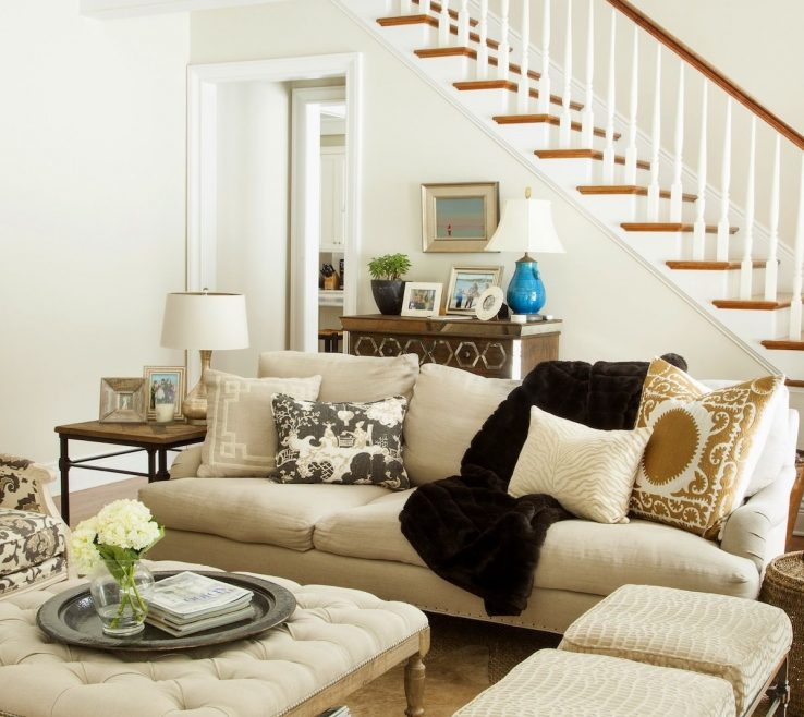 Enchanting Living Room With Ottoman Of Love The Table And The Two Stool