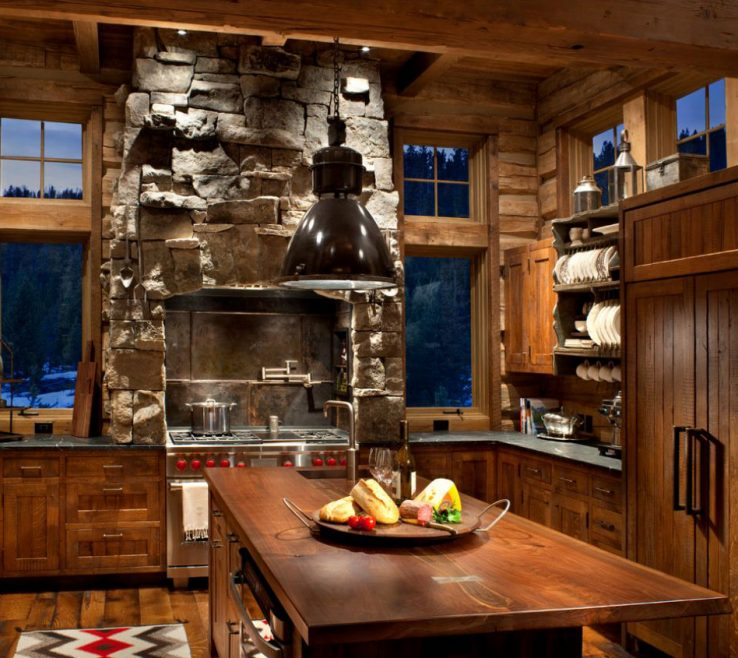 Enchanting Rustic Kitchen Designs Of Peace Design |