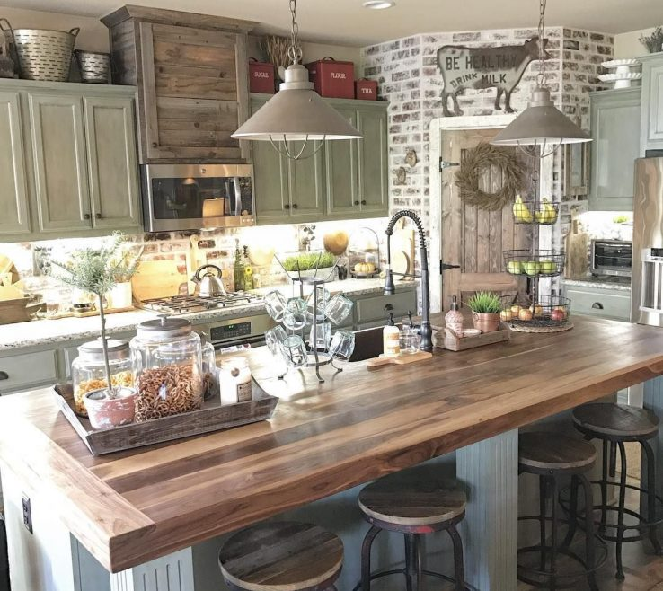 Enchanting Rustic Kitchen Designs Of Vintage E, Modern E, Country Ideas E