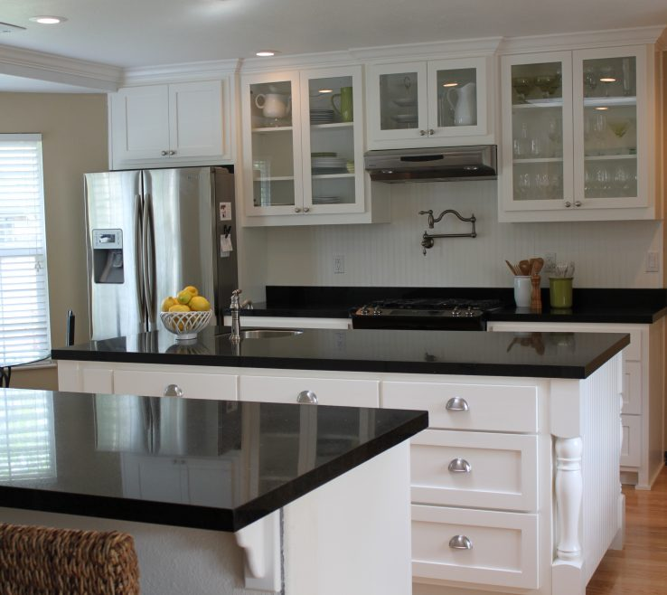 Enchanting White Kitchen Black S