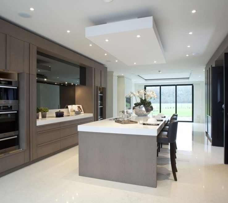 Endearing Contemporary Kitchen Ideas Of Taupe Black And White Panache | Kitchens