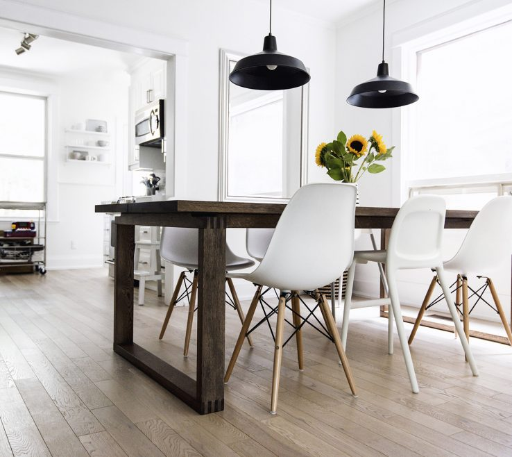 Endearing Dining Table With Different Chairs Of Scandinavian Inspired Room Mörbylånga Table, Eames Chairs,