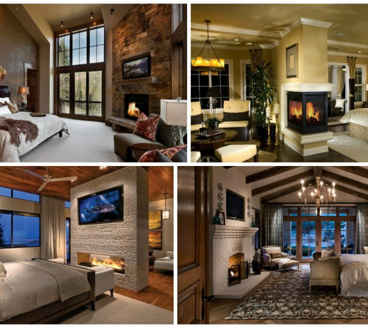Endearing Master Bedroom With Fireplace