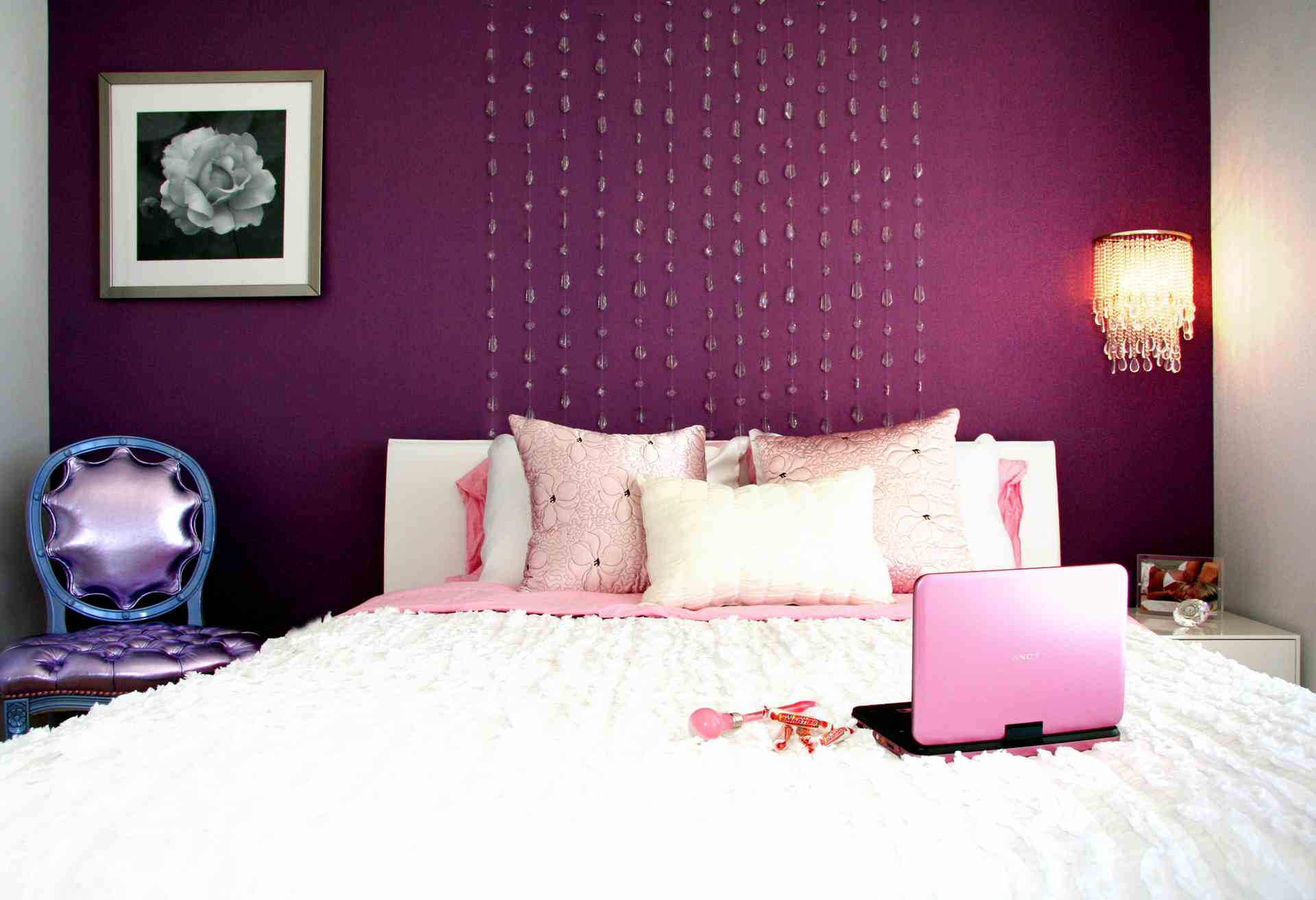 Purple Wall Decor For Bedrooms