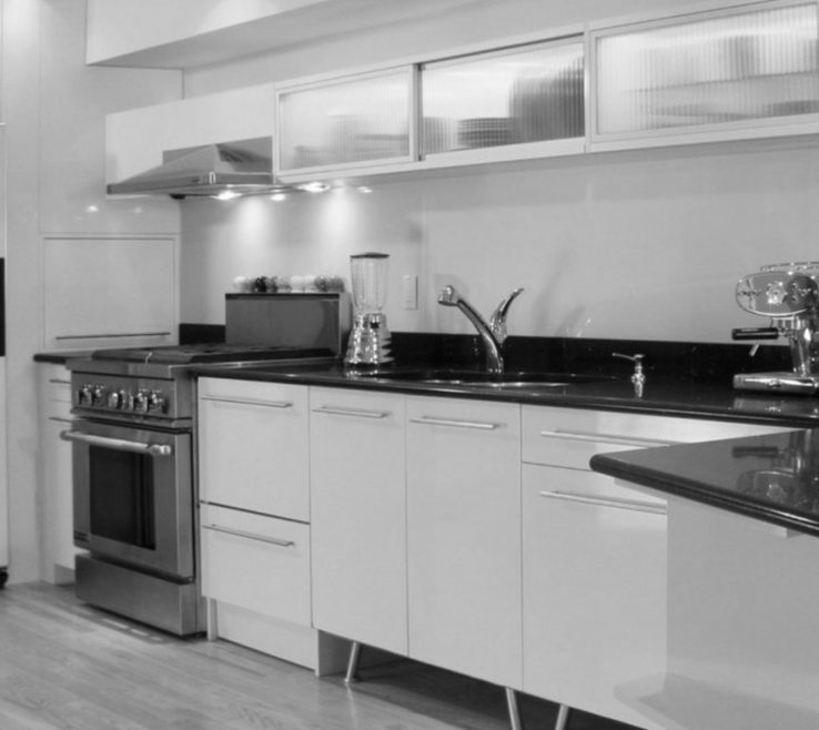 Endearing White Kitchen S With Black S Of Photo
