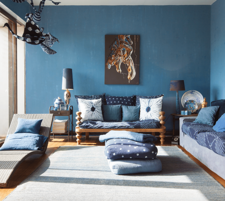 Enthralling Blue And Green Living Room